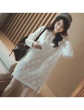 Ashlee   Vestido Jersey De Maternidad Con Puntos by Ashlee