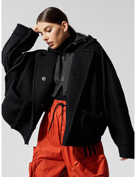 Women's Knit Nylon Hooded Jacket by Y 3