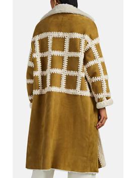 Ellaria Crochet Trimmed Shearling Coat by Ulla Johnson