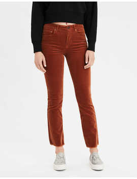 High Waisted Corduroy Crop Flare Pant by American Eagle Outfitters