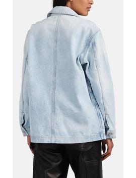 Worker Oversized Distressed Denim Jacket by Slvrlake