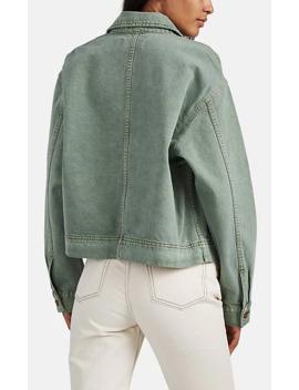 Thompson Oversized Denim Crop Jacket by Slvrlake