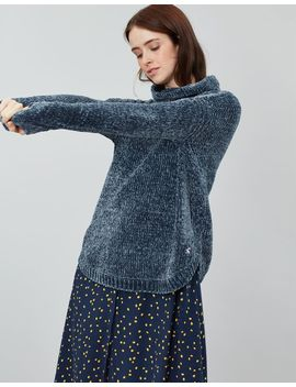 Chelsey Chenille Roll Neck Jumper by Joules