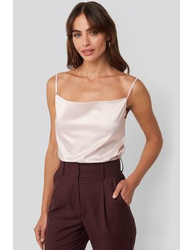 Cowl Neck Satin Cami Top Rosa by Na Kd