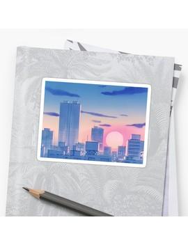 Sailor Moon City Landscape Sticker by Freshfroot