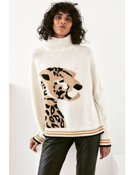 Mix/Holly Fulton Chunky Leopard Knit Jumper by Next