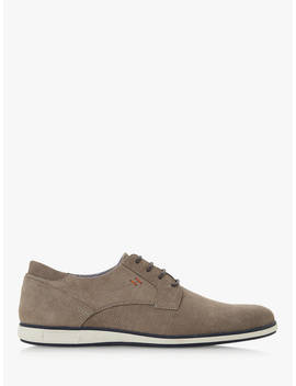 Dune Bamfield Leather Derby Shoes, Grey by Dune
