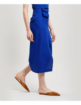 Aquila Linen Midi Skirt With Bag by Paloma Wool