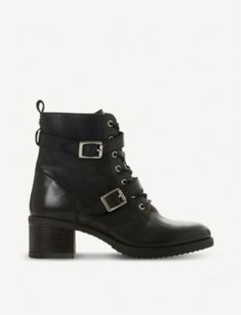 Paxtone Buckled Leather Boots by Dune
