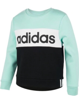 Adidas Girls' Pieced Crew Sweatshirt by Adidas