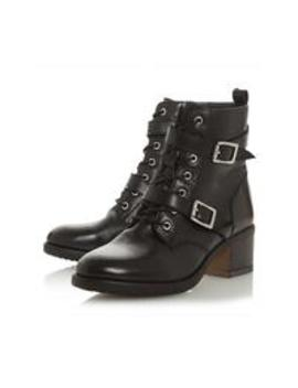 Dune London Paxtone Double Buckle Lace Up Boot by Dune London