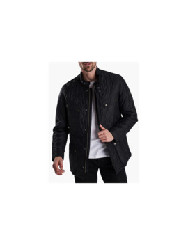 Barbour International Ariel Profile Quilted Jacket, Black by Barbour