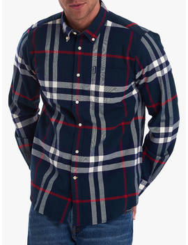 Barbour Highland Check Shirt, Navy by Barbour