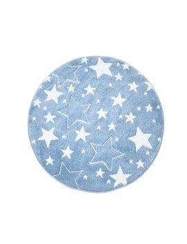 Stars Blue/White Rug by Carpet City