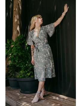 Kimono Wrap Dress, Jaren 90 Esthetische, Women's Jurk, Midi Jurk, Bruidsmeisjes Jurk, Baby Douche Jurk, Bloemmotief, Boho, Festival Jurk, 80s by Etsy