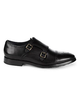 Leather Monk Strap Shoes by Cole Haan