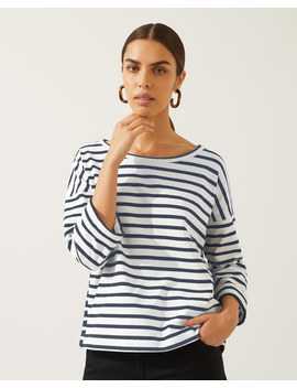Mixed Breton Stripe Top Mixed Breton Stripe Top by Jigsaw