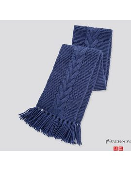 Jw Anderson Cable Knit Scarf by Uniqlo