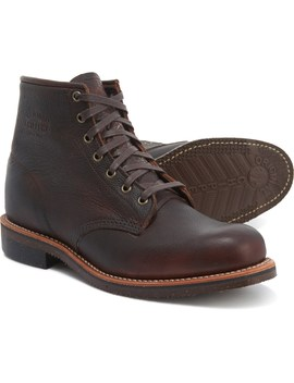 """Chippewa 6"""" Smith Pebbled Leather Utility Boots   Factory Seconds (For Men) by Chippewa"""