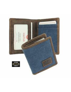Mala Cactus Collection Compact Canvas Wallet With Rfid Protection 633 81 by Ebay Seller