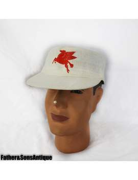 Antique Mobil Oil Pegasus Service Station Hat! by Etsy