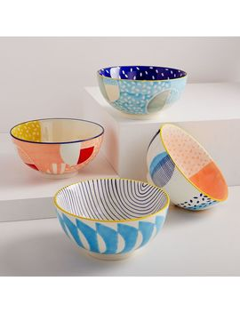 Hand Painted Pattern Pop Bowls   Large by West Elm