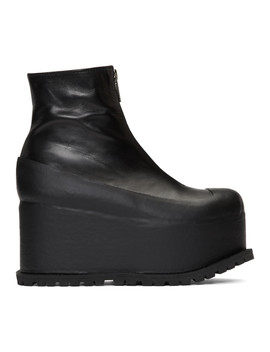Black Platform Boots by Sacai