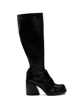 Black Shiny Tall Boots by ChloÉ