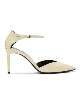 Off White Patent Anja D'orsay Pumps by Saint Laurent