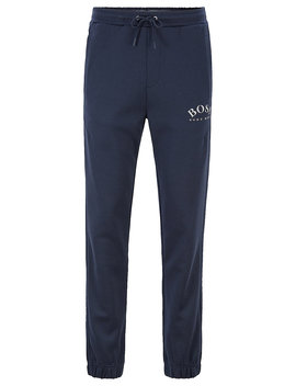 Slim Fit Jogging Pants With Logo And Cuffed Hems Slim Fit Jogging Pants With Logo And Cuffed Hems by Boss