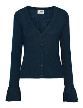 Senna Fluted Silk And Cashmere Blend Cardigan by Charli
