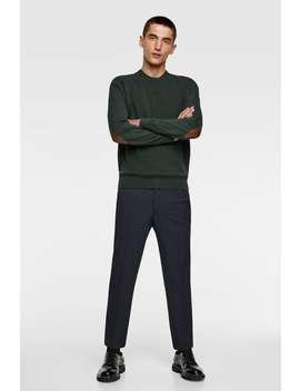 Sweater Combinada Com Cotoveleiras by Zara