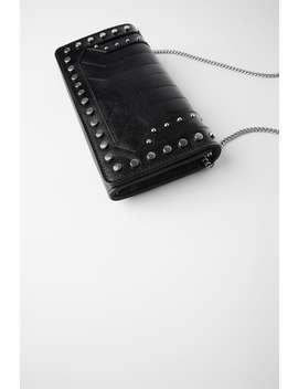 Rocker Leather Crossbody Wallet Bag With Chain by Zara