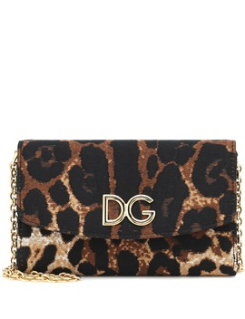 Mini Leopard Print Shoulder Bag by Dolce & Gabbana