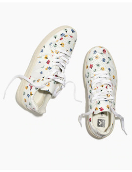 Madewell X Veja™ V 10 Leather Sneakers In Confetti Floral by Madewell