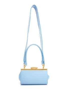 Pebble Short Mini Leather Top Handle Bag by Reike Nen