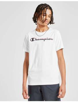 Champion Logo T Shirt Junior by Jd Sports