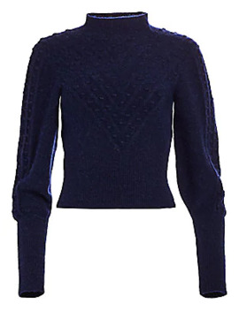 Fantasy Point Textured Sweater by The Kooples