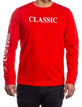 "Men's Coca Cola Coke ""Classic"" Long Sleeve Graphic Tee by Coca Cola"