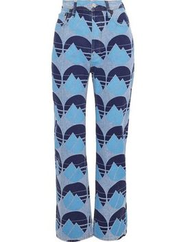 Log Printed High Rise Straight Leg Jeans by Acne Studios