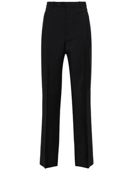Mohair And Wool Blend Straight Leg Pants by Maison Margiela