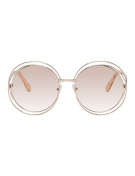 Silver Circular Spiraling Sunglasses by ChloÉ