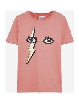 Metallic Printed Cotton Jersey T Shirt by Red Valentino