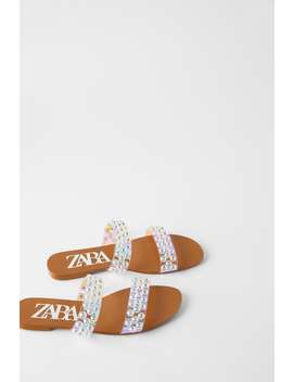 Iridescent Flat Sandals by Zara