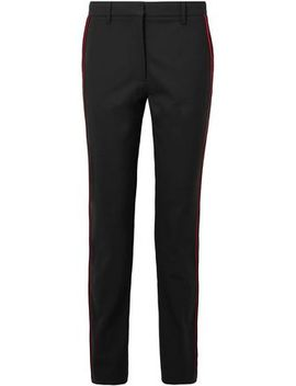 Velvet Trimmed Stretch Wool Slim Leg Pants by Calvin Klein 205 W39 Nyc