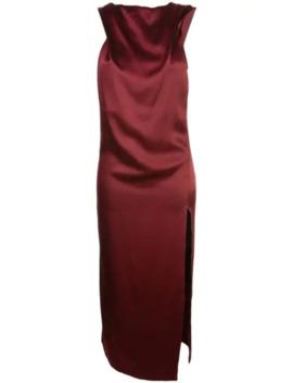 Asymmetric Satin Dress by Cushnie