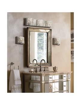 "Cesenna 25 1/2\"" Wide Crystal 3 Light Bath Vanity Light by Lamps Plus"