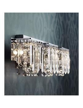 "Possini Euro Crystal Strand 25 3/4\"" Wide Chrome Bath Light by Lamps Plus"