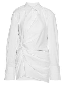 Draped Cotton Poplin Shirt by Helmut Lang