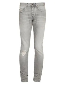 Distressed Skinny Jeans by Saint Laurent